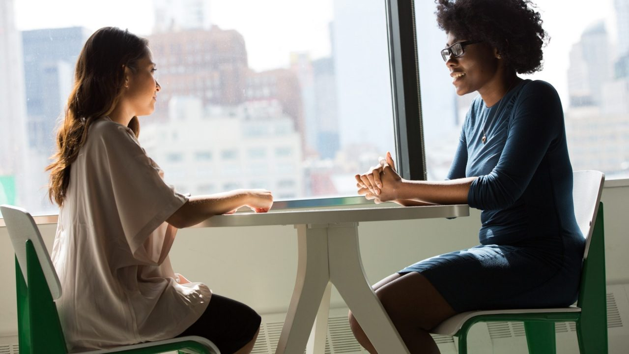 two women having a difficult conversation